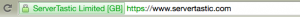 Servertastic Green Address Bar